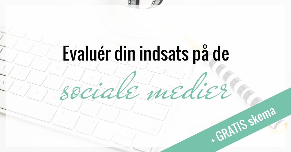 Sociale medier, gratis, evaluering